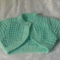 Baby Bolero to fit 3-6 months in Beautiful Mint Green