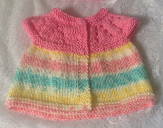 Baby Jacket in Two Contrast Shades to fit newborn