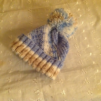 Baby Swirl Ski Cap with a Twist 0-3m