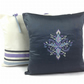 Cosy Decorative Grey Throw Cushion, Housewarming Gift, Linen Embroidered Cushion