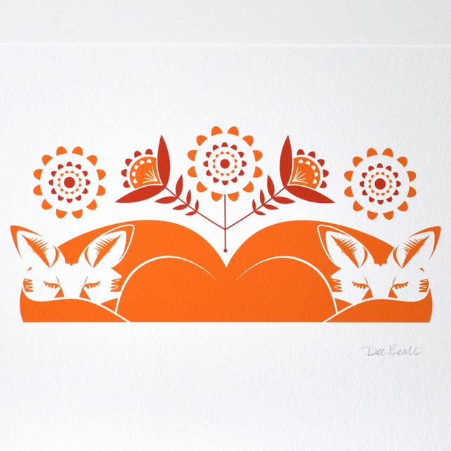 Sleeping Foxes - Open Edition Giclee Print
