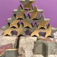 Christmas Gold leaf concrete star