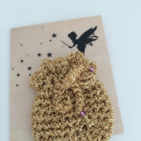 Tooth Fairy Bag Gold
