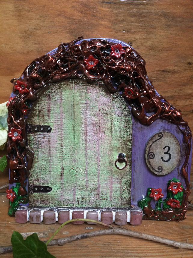 Flower Cottage Fairy Door
