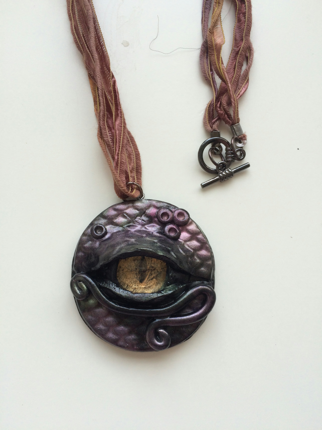 Dragon Eye Pendant Amulet Necklace