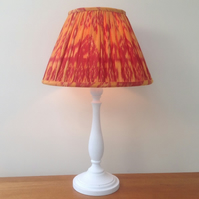 Hand Gathered Ikat Lampshade