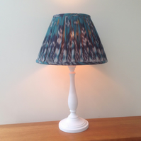 Hand gathered Blue Turquoise Ikat Lampshade