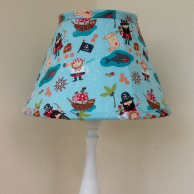 Blue Pirate Childrens Lampshade