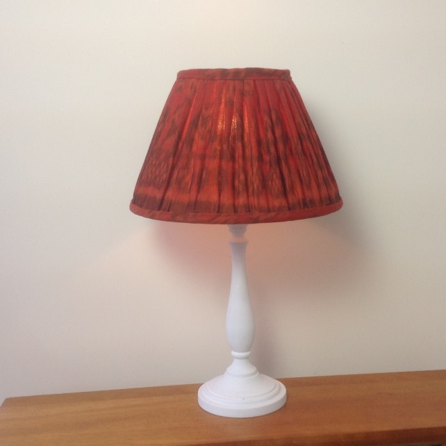 Burnt Orange and Spice Ikat Lampshade