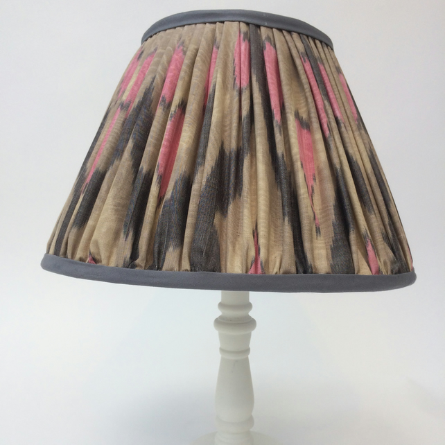 Pink and Grey Gathered Lampshade