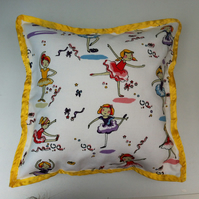 Tiny Dancer Hypoallergenic Cushion. 33 x 33cm by Saint Dorothy.