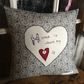 'Home is where my heart is' cushion