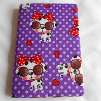 DOG - Handmade Notebook Cover & notebook A6 size - Gift Idea