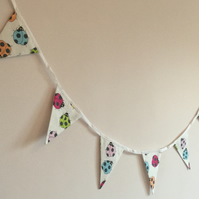 Bunting, Ladybird, Kids room, Home decor, Handmade, Nursery, Baby Shower, Gift.