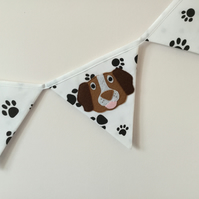 DOG - Bunting - Dog Applique Bunting - Handmade - Dog Lover - Gift - kids room.