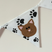 CAT - Cat Bunting - Garland - Home Decor - Handmade - Animal Lover -Gift idea .