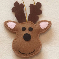 Christmas Reindeer Decoration - Hanging Christmas Decoration - Tree - Animal lov
