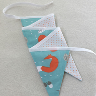 FOX Bunting, Home Decor, Nursery, Kids Room, Baby Shower, Gift, Pawcrafts