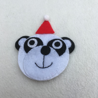 PANDA - Christmas Tree Decoration, Christmas Decoration, Animal Lover, Pawcrafts