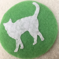 Cat Decoration, Easter, Spring, Tree decoration, White Cat, Cat Décor, Pets