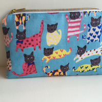 Cat Pencil Case, Make-up bag, Stationery, Animal lover, Gift, School, Pawcrafts