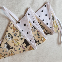 CAT BUNTING, Summer Decor, Garland, Animal Lover, Gift, kids, Nursery, Pawcrafts