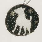 White Dog bauble, Christmas tree decoration, Silhouette, Animal, Pet, Gift
