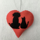 Valentine's Decoration Dog & Cat – decor - Valentine