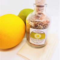 Lemongrass & Lime Bath Soak 50g Himalayan bath salts