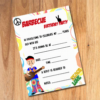 Barbecue birthday invitation for boys -pack of 10