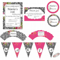Personalized adult  Party Pack  - Perfect for any age - 45 products