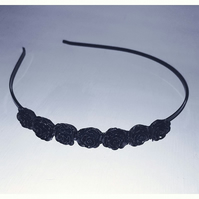 Black rose side tiara