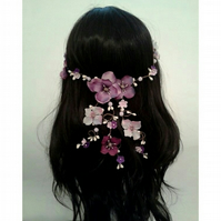 Trina Pansy Waterfall Headdress