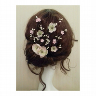 Tina Cherry Blossom Flower Hair Comb Fascinator