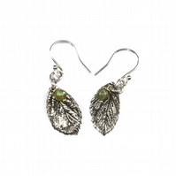 Mint with a Dash of Labradorite Fine Silver Earrings
