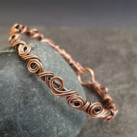 Wire Wrapped Copper Bangle