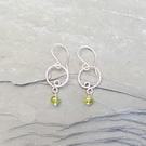 Dainty Peridot and Silver Earrings