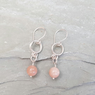 Sunstone and Sterling Silver Earrings