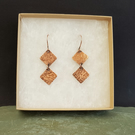 Rustic Copper Earrings
