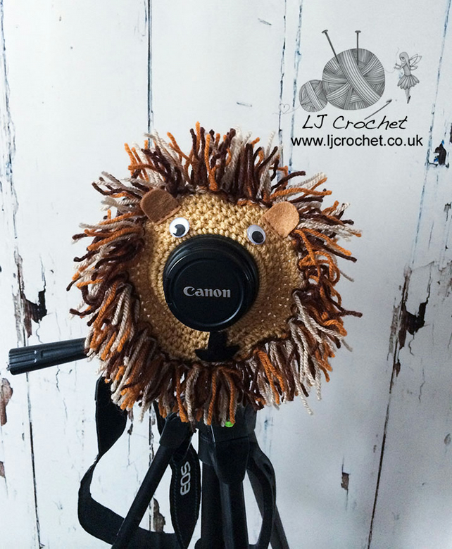Lion Camera Lens Buddy, Brown Lion Lens Critter, Newborn Photography Prop