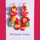 Polymer Clay Earrings with hypoallergenic ear wires
