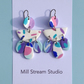 Polymer Clay Earrings with hypoallergenic titanium ear wires