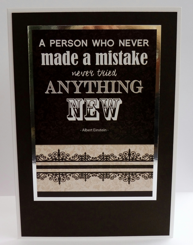 C2205 - A person who never made a mistake ....