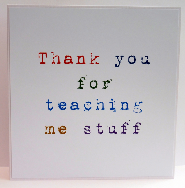 C2761 - Teacher Thank you Card