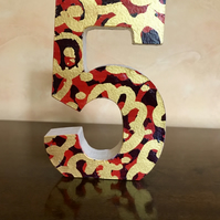 Wooden Number -Custom Made Decorated Freestanding Number- Birthday- Anniversary