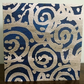 Art Greetings Card-'Silver Swirl'-15x15cm- Blank-Printed From Hand Painted Paper