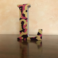 Wooden Letter -Custom Made Decorated Freestanding Wooden Letter