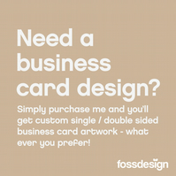 Business Card Artwork - Custom