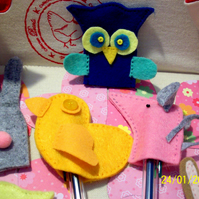 felt finger puppets or pencil toppers