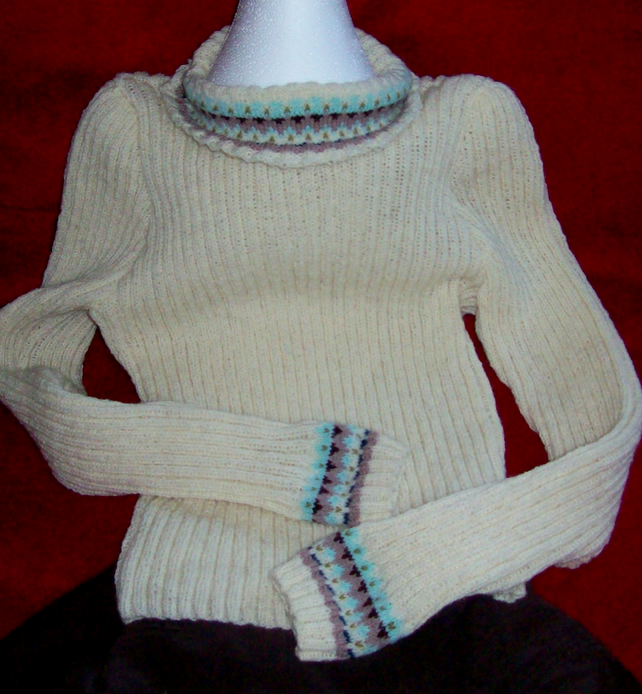 Hand knitted fair isle sweaters